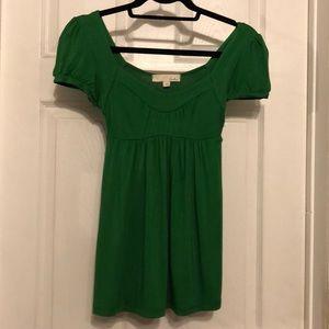Lush emerald green sleeved babydoll shirt